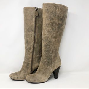Fossil Distressed Suede Zip Up Boot 7
